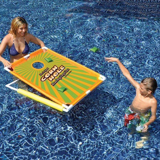 floating cornhole toss