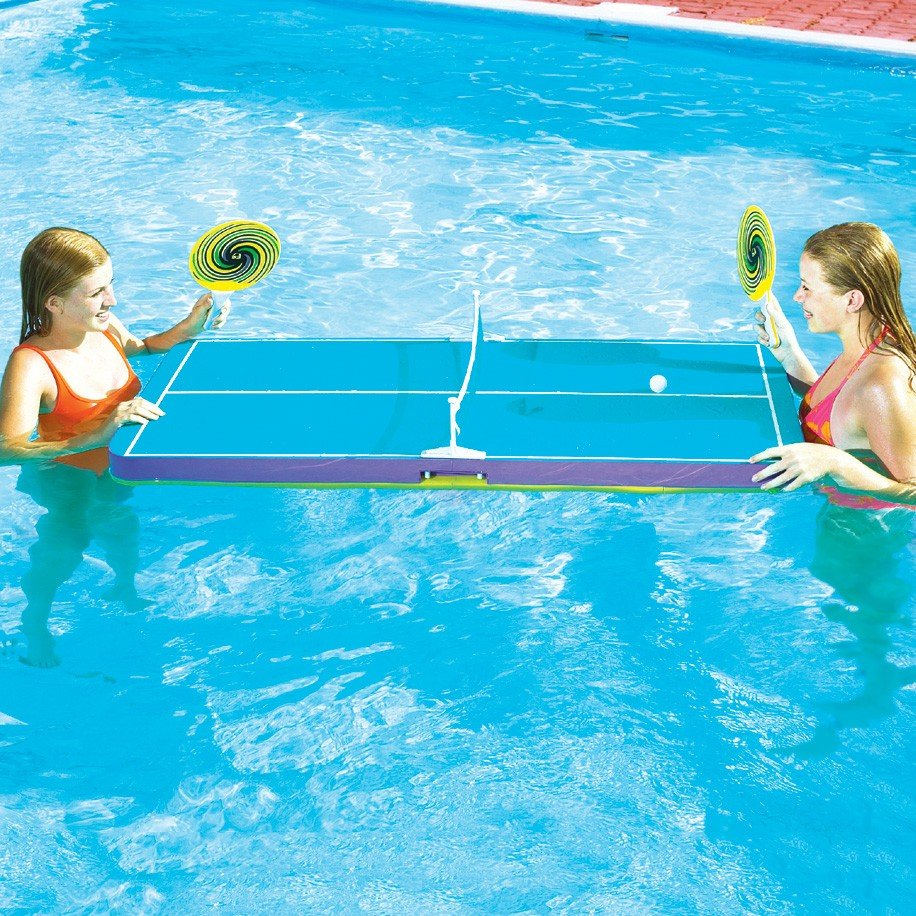 Floating Ping Pong Trasolini Pools Ltd - Billiards ping pong table