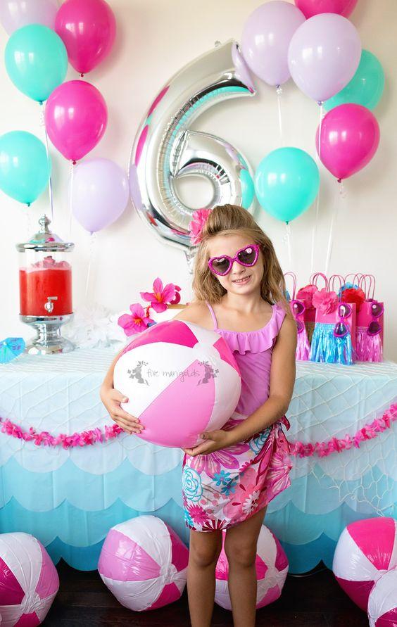 malibu barbie themed summer birthday pool party ideas