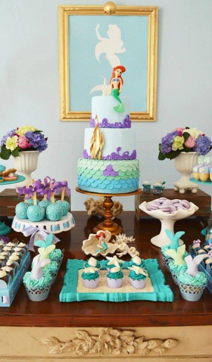 mermaid theme summer birthday pool party ideas