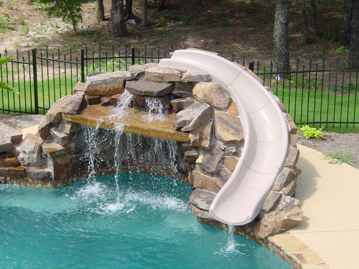 Inground pool slides: Safety information and design ideas