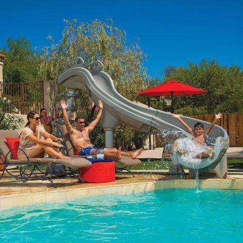pool slide, vancouver pool designer, pool company vancouver