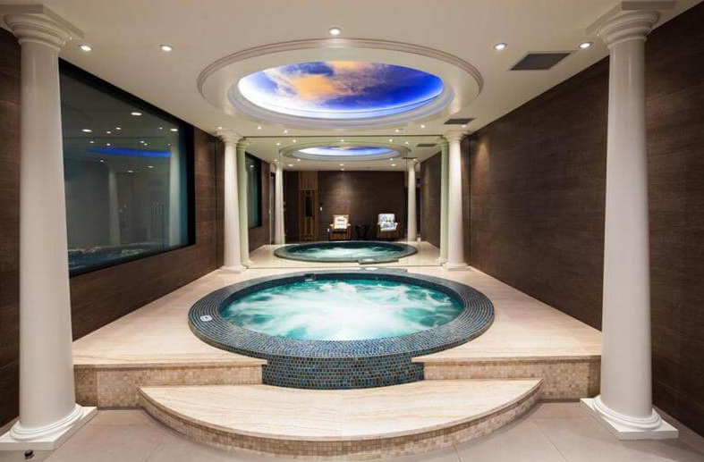 Indoor hot tub built by Trasolini Pools West Vancouver - indoor spa