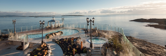 Oak Bay Beach Hotel Mineral Baths Were Built By Trasolini Pools Pool Company Vancouver