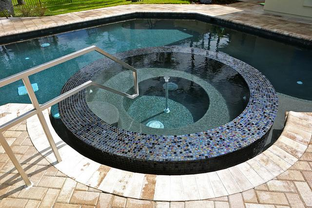 best pool finishing material hydrazzo - trasolini pools - pool company vancouver