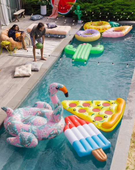 pool floaties 2017 - trasolini pools - pool company vancouver