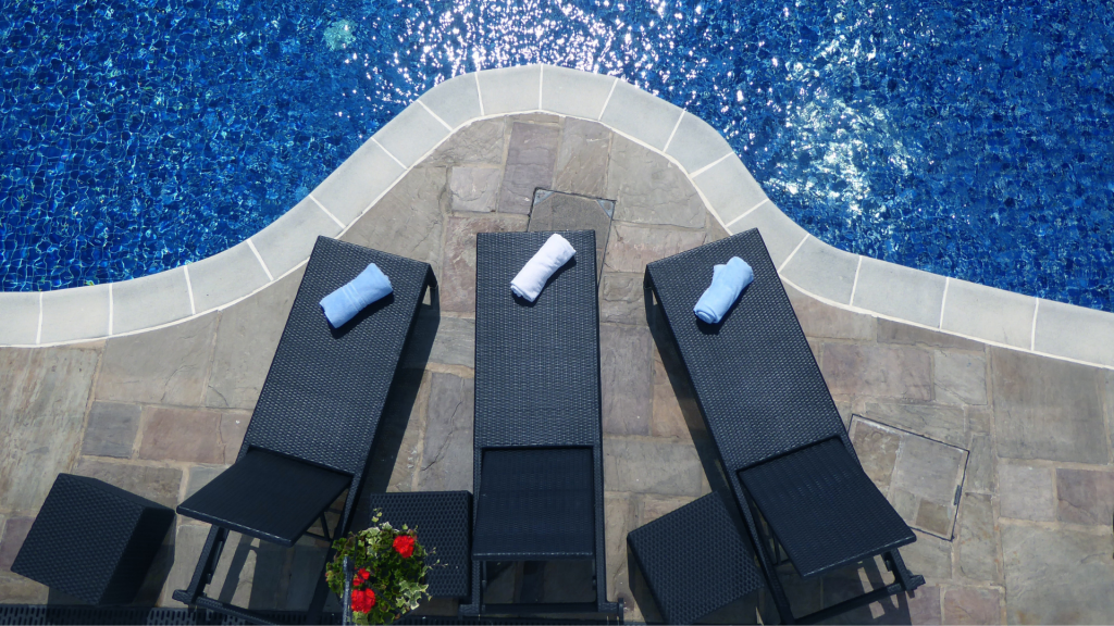Must Have Pool Accessories for Summer 2021 - Vancouver pool company - Vancouver hot tub company - Trasolini pools - Sunbathing chairs