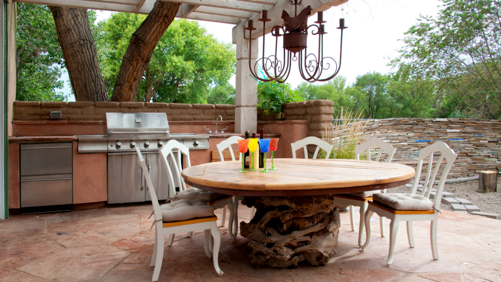 Top 6 Ways to Style Your Patio Deck - Vancouver hot tub company - Vancouver pool company - Trasolini pools - Eating Area
